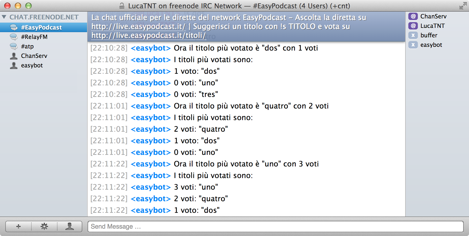 EasyBot in azione